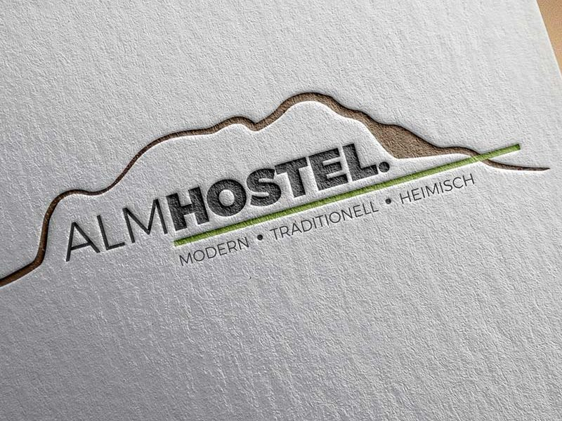 Bad Aibling Logodesign für das Almhostel in Flintsbach