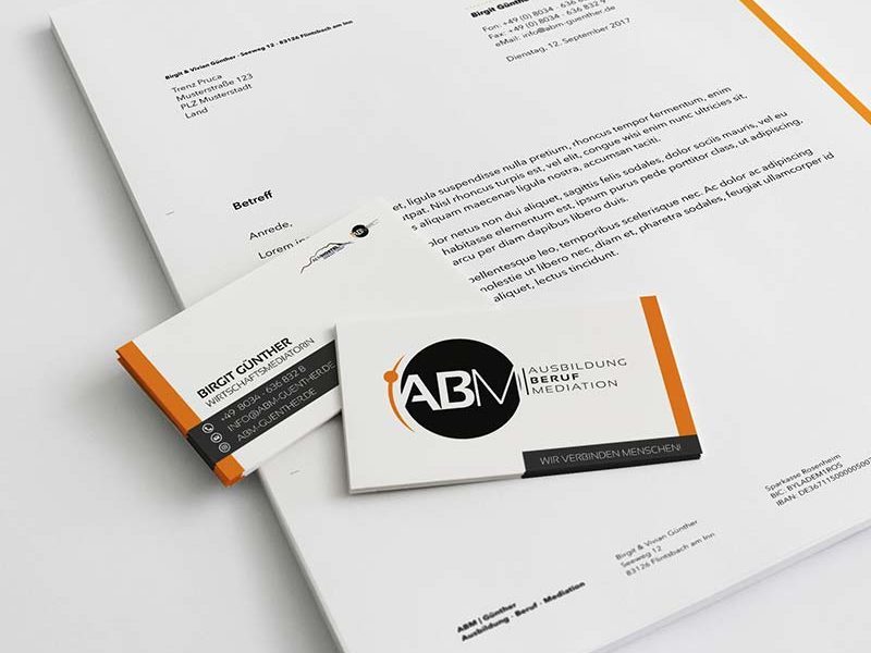 Corporate Design & Logodesign für ABM aus Flintsbach